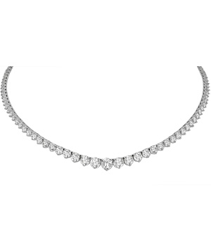 Diamond Riviera graduated necklace